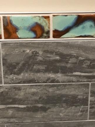 Slate and ceramic tile in the restroom